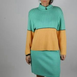 ST. JOHN Collection Sweater Skirt suit